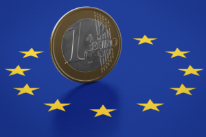 euro and the EU flag