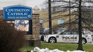 The Covington high school closed on Tuesday due to a torrent of threats.