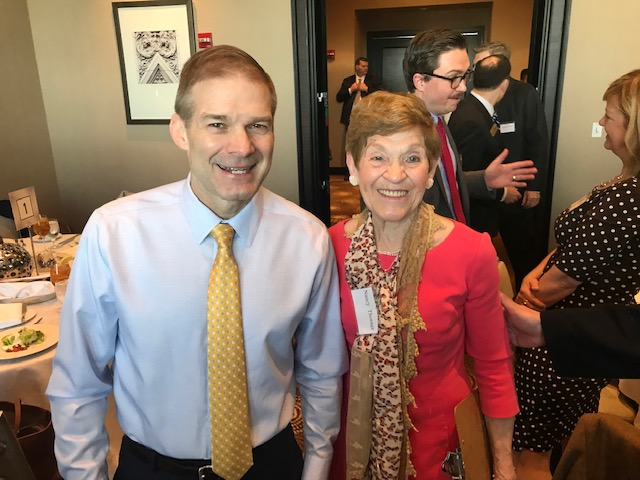 Rep. Jim Jordan and author Nancy Thorner