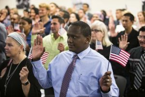 American citizenship naturalization swearing in ceremony
