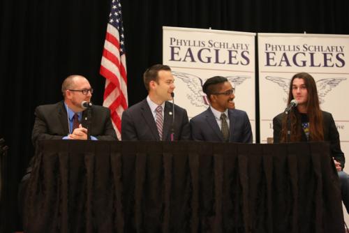 Carpe Donktum, Jack Posobiec, Ali Alexander and Scott Presler speak at Eagle Council 48 September 2019