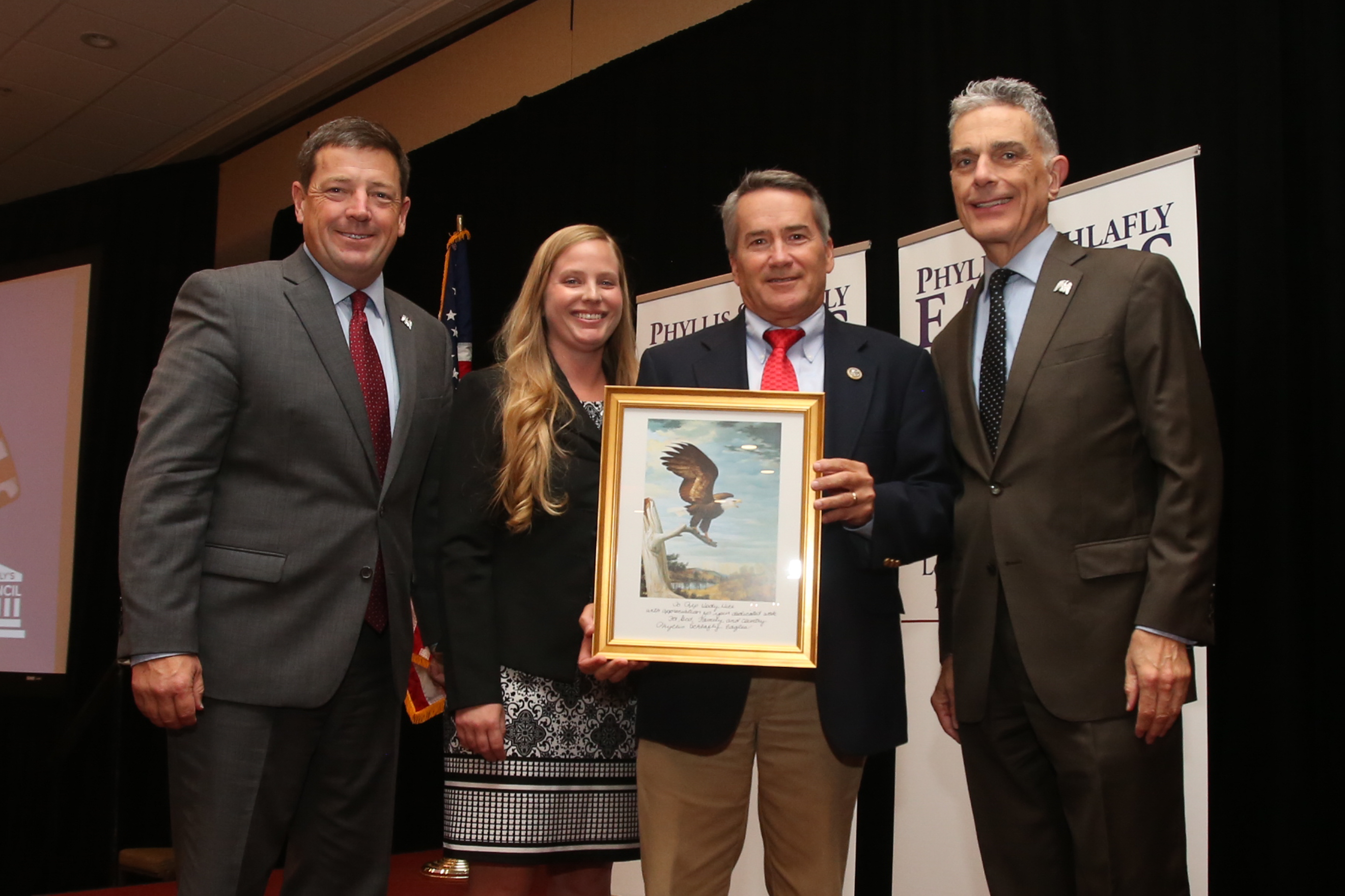 Rep. Jody Hice (GA) keynote speaker at Eagle Council presented Eagle Award