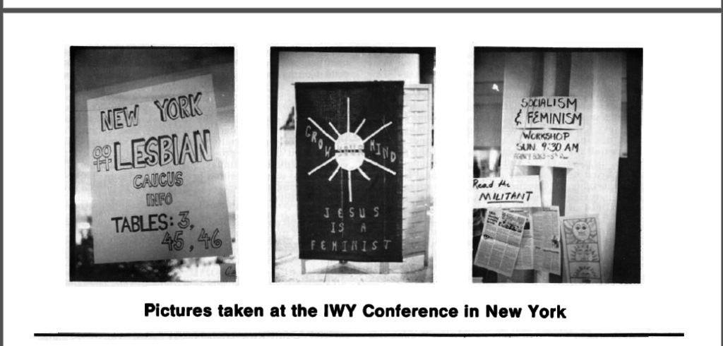 Pictures taken at the IWY Conference in New York, Phyllis Schlafly Report, August 1977 Section 2