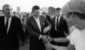 Ronald Reagan meeting Americans 1966