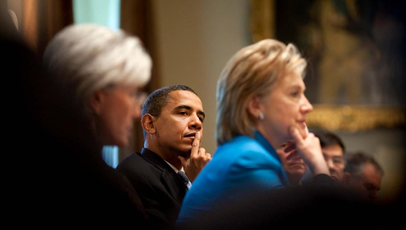 Sebelius, Hillary Clinton and Pres. Obama 2009